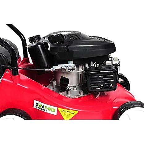 RACING Tondeuse a gazon thermique poussée 98,5cc 40cm 45L: Amazon ...
