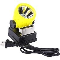 LED Mining Headlamp, Coal Miner Headlight Explosion Rroof Mining Light, Waterproof Saftety Cap Lamp BK2000 Rechargeable…