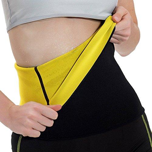 YFMAYI Hot Thermo Sweat Neoprene Shapers Slimming Belt Waist Cincher Girdle For Weight Loss Women,X-Large-FBA,Black
