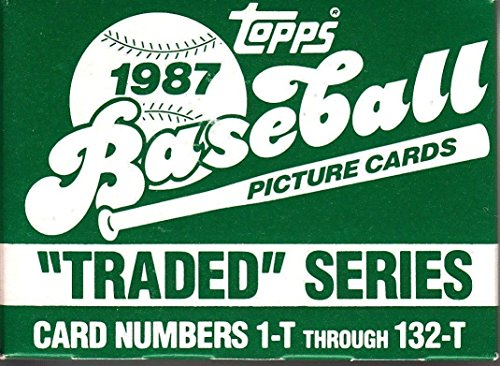 1987 Topps Traded Baseball (1987 Topps Traded MLB Baseball Series 132 Card Set in Original Factory Set Box Complete M (Mint))