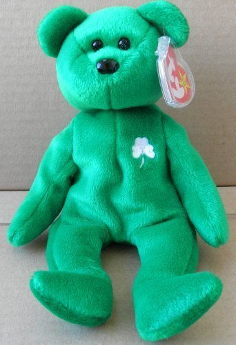dae29077a0d Amazon.com  1 X TY Beanie Babies Erin the Irish Bear Plush Toy Stuffed  Animal  Toys   Games