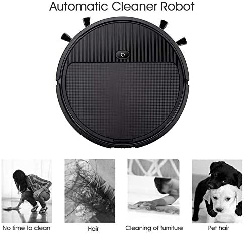 Aspirateur Robot, Multifonctions Smart Home Cleaner Balayer Automatique 3-in-1 Recharge Sec Balayage Humide Robot