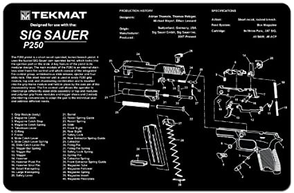 amazon com tekmat sig sauer p250 cleaning mat 11 x 17 thick Sig P250 Parts tekmat sig sauer p250 cleaning mat 11 x 17 thick, durable, waterproof