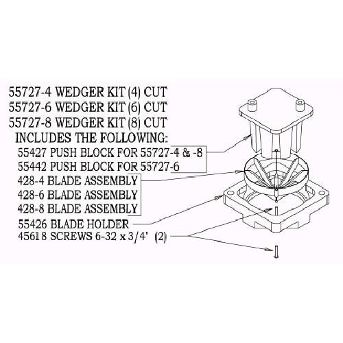 Nemco 8 Section Wedger Kit Only - 1 each. ()