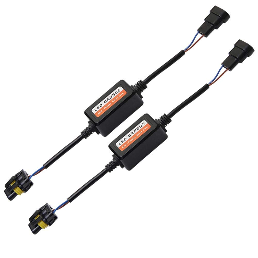 1 Pair 9005//9006//9012 LED Headlight Canbus Decoders Anti Flicker Resistor