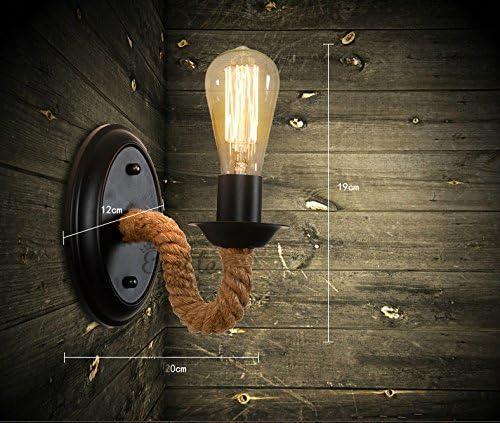 BAYCHEER Loft Seil Lampe Wandlampe Lampenfassung Wand Leuchte Antik Retro Ein-Flammige E27 Disign Lampe Flur Lampe K/üchenlampe 399918