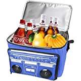 GIWOX Waterproof Picnic Cooler Bag Beach Bag Insulated Cooler Bag Bluetooth Speaker with a Cooler Bag for Outdoor Travelling (Blue)