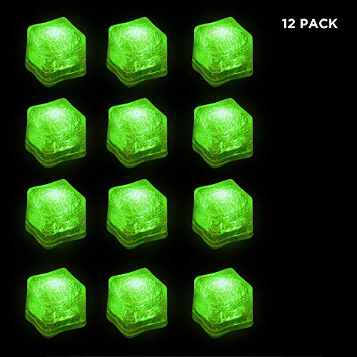 Green LED Ice Cubes -