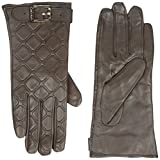 Calvin Klein Women's Quilted Buckle Gloves, Chocolate, Small