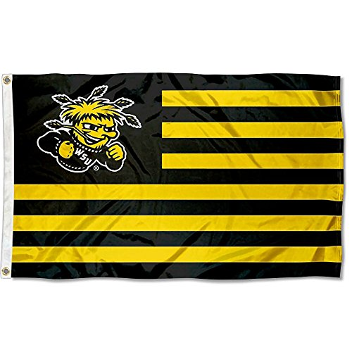 Wichita State Stars and Stripes Nation College Flag