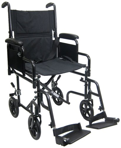 Karman Lightweight Transport Wheelchair with Removable Armrest
