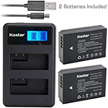 Kastar Battery (X2) & LCD Dual Slim Charger for Canon LP-E12 and Canon EOS 100D, EOS Rebel SL1, EOS M Camera System & Canon LPE12 Grip