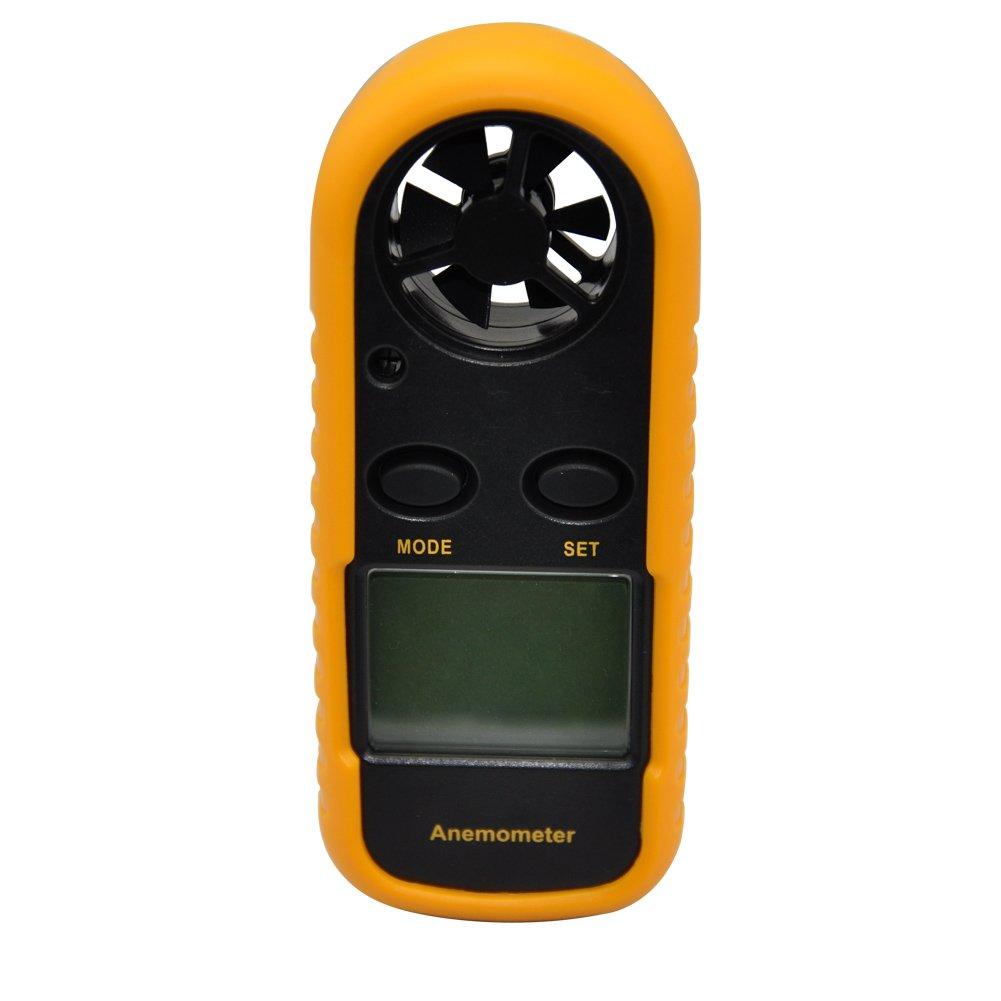 COZYSWAN GM816 Pocket LCD Digital Anemometer Air Wind Speed Scale Gauge Meter Thermometer