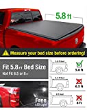 Premium Tri-Fold Truck Bed Tonneau Cover 2009-2018 Dodge Ram 1500 without Ram Box | Fleetside 5.8' Bed