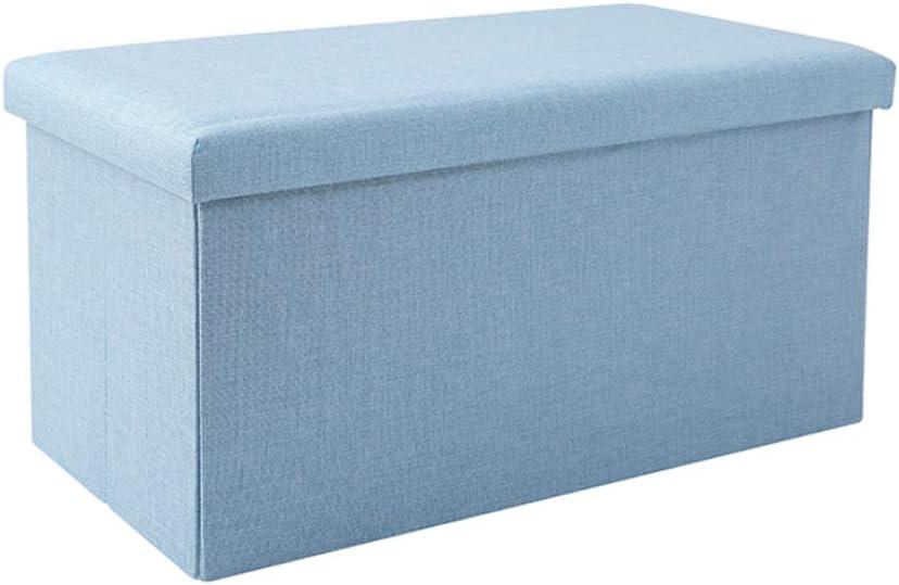 contenitore in cotone confezione da 1 pezzo per soggiorno marrone chiaro 30 x 30 x 30 cm Pouf pieghevole in cotone spargma multiuso FOCCTS