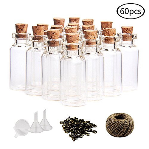 glass jars with cork stoppers - 2