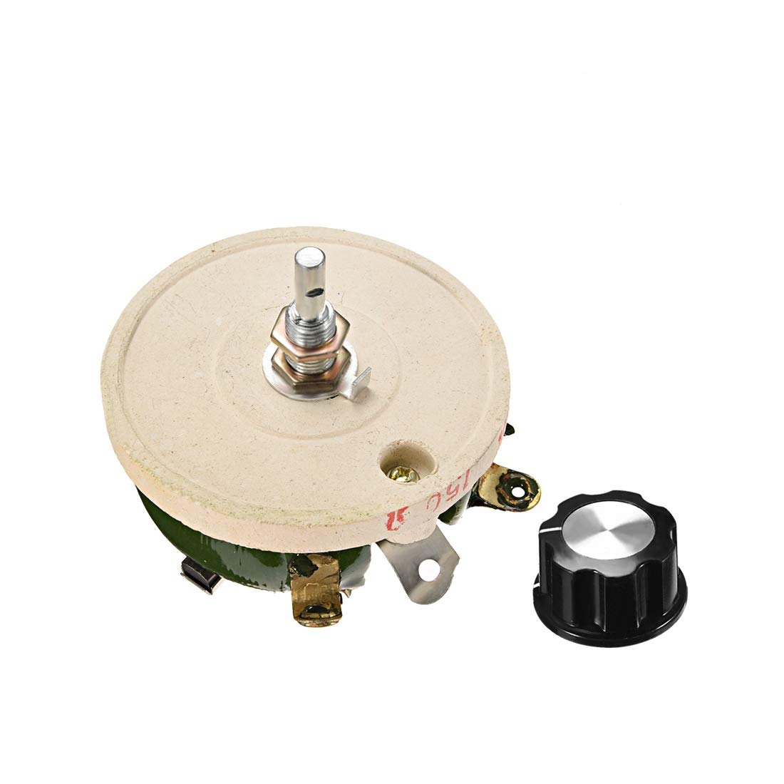 uxcell 100 Ohm 100W High Power Ceramic Wirewound Potentiometer with Knob Rheostat Variable Resistor