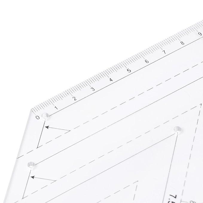 GUBENM 45 Grad Kunststoff Quilten Lineal Ausrüstung Für DIY Nähen ...