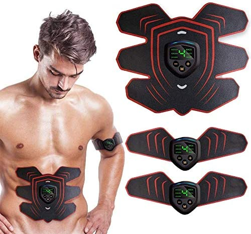 Abs Stimulator Muscle Stimulator, Protable Ab Trainer Muscle Toner Electric Abs Belt Workout Equipment Slendertone Ab Machine Workout Gear for Men Women, Free Gel Pads 1