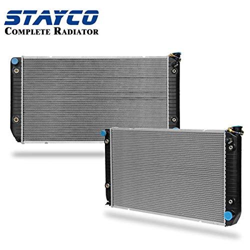 (2-Rows 1696 Radiator Replacement for GMC C2500 C3500 K3500 Sierra 1994-2000 Chevrolet K2500 K3500 V8 7.4L)