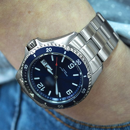 22mm Super Oyster 316L Stainless Steel Watch Bracelet for Orient Mako II & Ray II, Brushed by Orient Replacement by MiLTAT (Image #1)