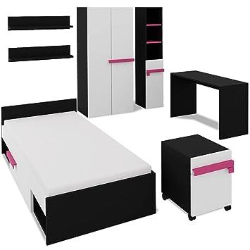 Festnight 7-teiliges Kinderschlafzimmer-Set Kinderzimmer Möbel ...