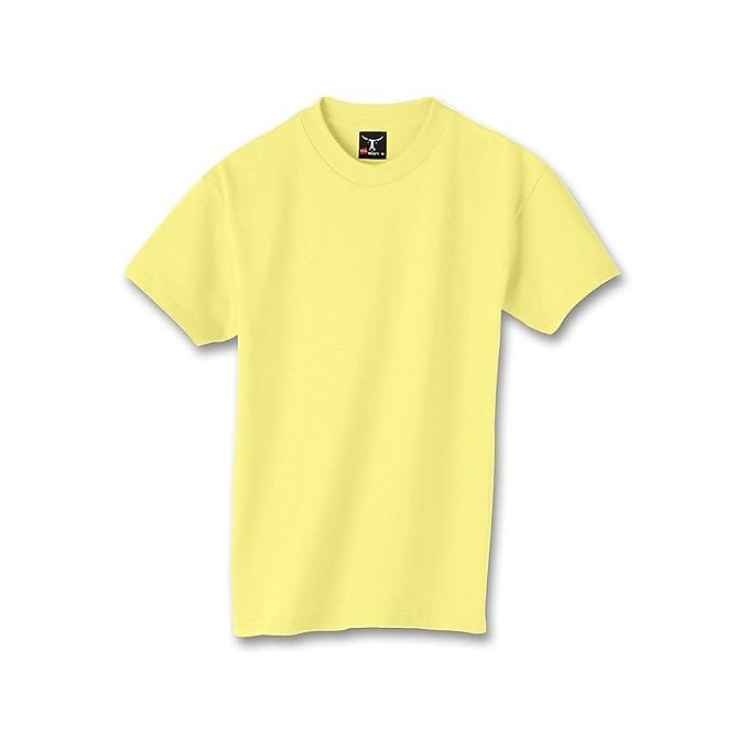 f32a61b5 Hanes Kids' Beefy 6.1 oz T-Shirt, Yellow, M