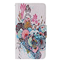 UNEXTATI Galaxy A7 Case, Premium Wallet Case + Silicone Cover for Samsung Galaxy A7, Flip Leather Case with Card-Slot, Kickstand, Magnet Closure (P10 Multicolor)