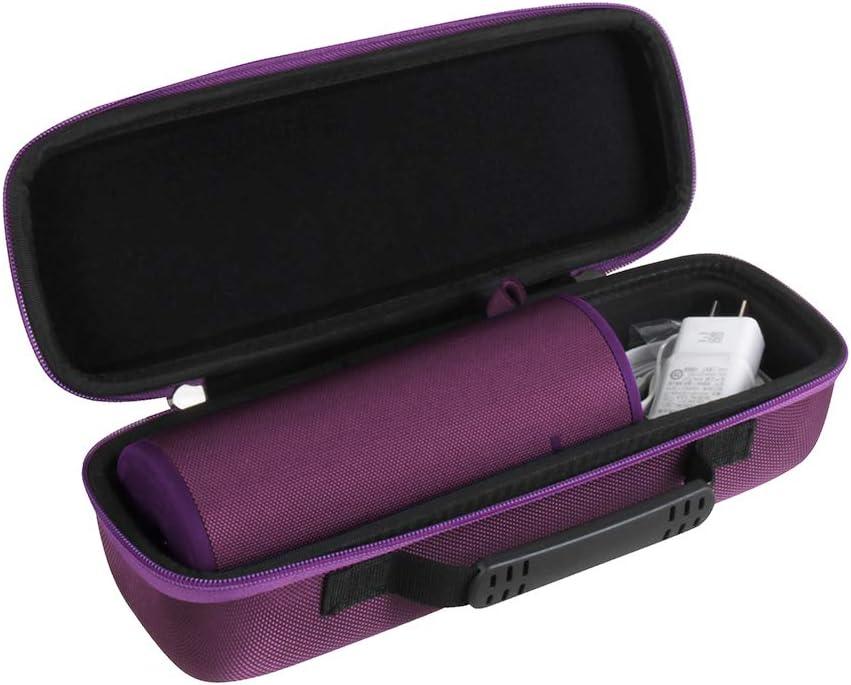 Hermitshell Travel Case Fits Ultimate Ears UE Boom 3 Portable Bluetooth Wireless Speaker (Ultraviolet Purple)