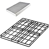 45minBedFrame 4 Inch Low Profile Easy Assembly Smart Box Spring/Mattress Foundation / 5000 lbs Heavy Duty Strong Steel Structure,Queen