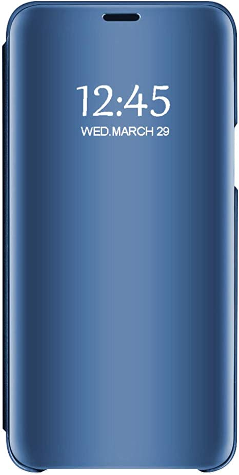Custodia per iPhone 7/8 iPhone 7 Plus/ 8 Plus Sottile Chiaro Specchio Stand Protezione S-View Flip Cover Rigida Antiurto Case per Apple iPhone 7/8 ...