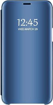 Samsung Galaxy S7/ S7 Edge Funda, Case para Smartphone Mirror Shiny Funda Protectora Pantalla Pura PC Protector Negro Cover Antideslizante y Antiarañazos Galvanizada (Azul, Samsung Galaxy S7): Amazon.es: Electrónica