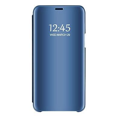 Vanki Funda Samsung Galaxy S7/S7 Edge, 360° Full protección PU + PC Flip Cover Espejo Brillante Rasguño y Resistente Anti-Estático Carcasa para Galaxy ...