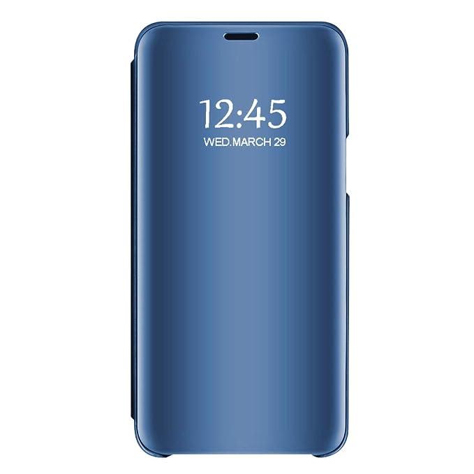 d270bd844f3 Vanki Funda Samsung Galaxy Note 8 Inteligente Case, Fecha/Hora Clear View  Espejo Brillante