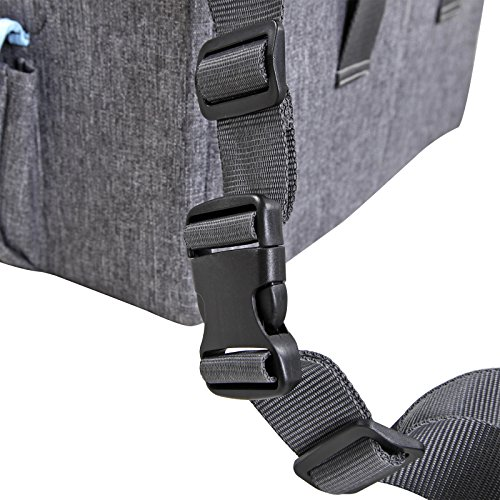 Petsfit Pet Booster Seat/Lookout Car Seat for Small Dogs and Cats up to 15 Pounds,With Pockets (Gray) 15''Lx16''Wx14''H Small by Petsfit (Image #8)