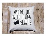 Custom Kid Pillow Cover , 16x16 in Kids Custom, boy bedding , Where the Wild things are Bedroom , boy room décor, Halloween Gift for Children