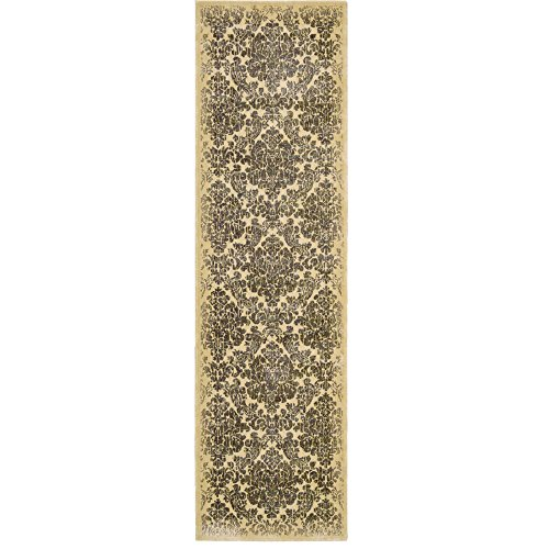 Nourison Chambord (CM15) Ivory Runner Area Rug, 2-Feet 3-Inches by 8-Feet  (2'3