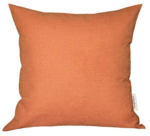 - TangDepot Blend Linen Handmade Solid Decorative Throw Pillow Covers/Pillow Shams, Thick and Soft European Throw Pillow Covers, Indoor/Outdoor Cushion Covers - (24