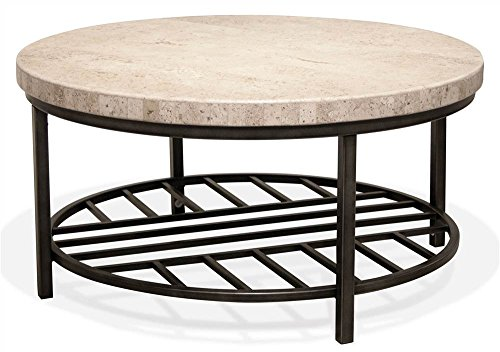 - Riverside Furniture Cocktail Table with Alabaster Travertine Top