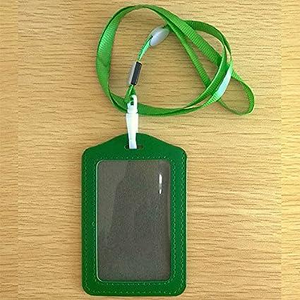 Porta-badge//badge//badge//badge//badge//tessere con cordino in finta pelle trasparente Misura unica Red