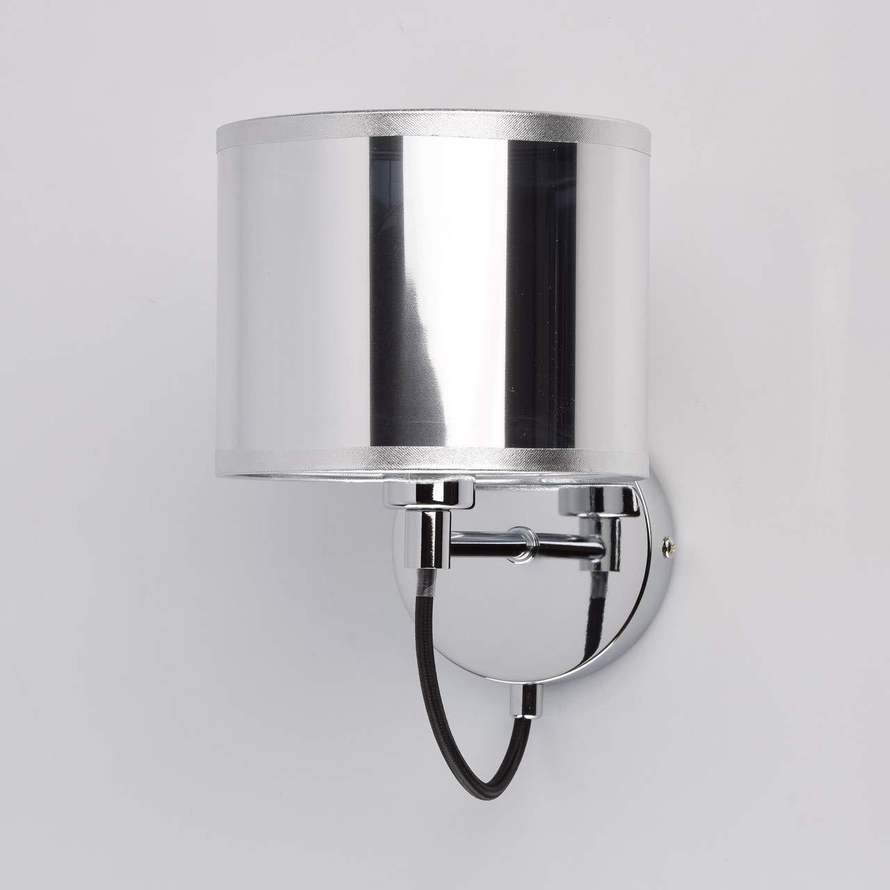MW-Light 267021901 Wandleuchte Chrom 1 Armig Modern Glasschirm Wei/ß Wohnzimmer