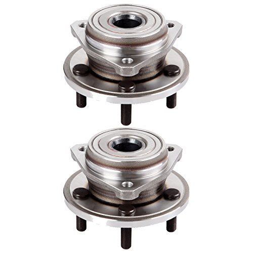 ECCPP Pair of 2 New Complete Front Wheel Hub Bearing Assembly 5 Lugs for 1999-2006 Jeep 513158x2