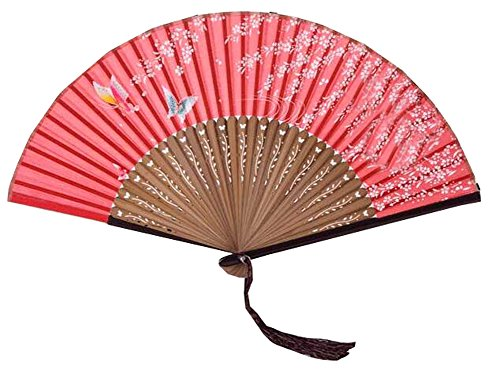 Chinese Style Process Fan Retro Folding Fan Dance Fan Home Decoration Gift 6 Inch (Red)