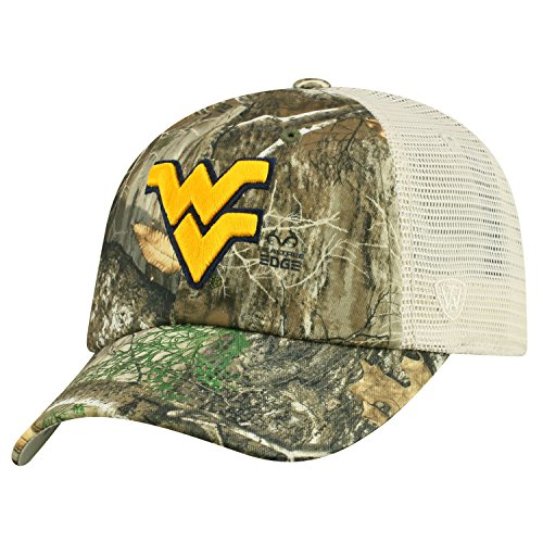 - Top of the World West Virginia Mountaineers Official NCAA Adjustable Sentry Realtree Poly Twill and Mesh Hat Cap by 368559