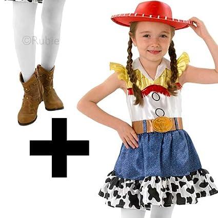 MFD Disfraz de Jessie + Tights Toy Story para niñas, Disfraz de ...