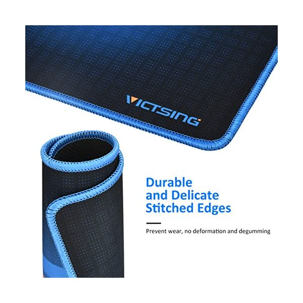 VicTsing Mouse Pad with Stitched Edges, Premium-Textured Mouse Mat Pad, Non-Slip Rubber Base Mousepad for Laptop…