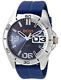 BOSS Orange Men's 1513286 berlin Analog Display Japanese Quartz Blue Watch