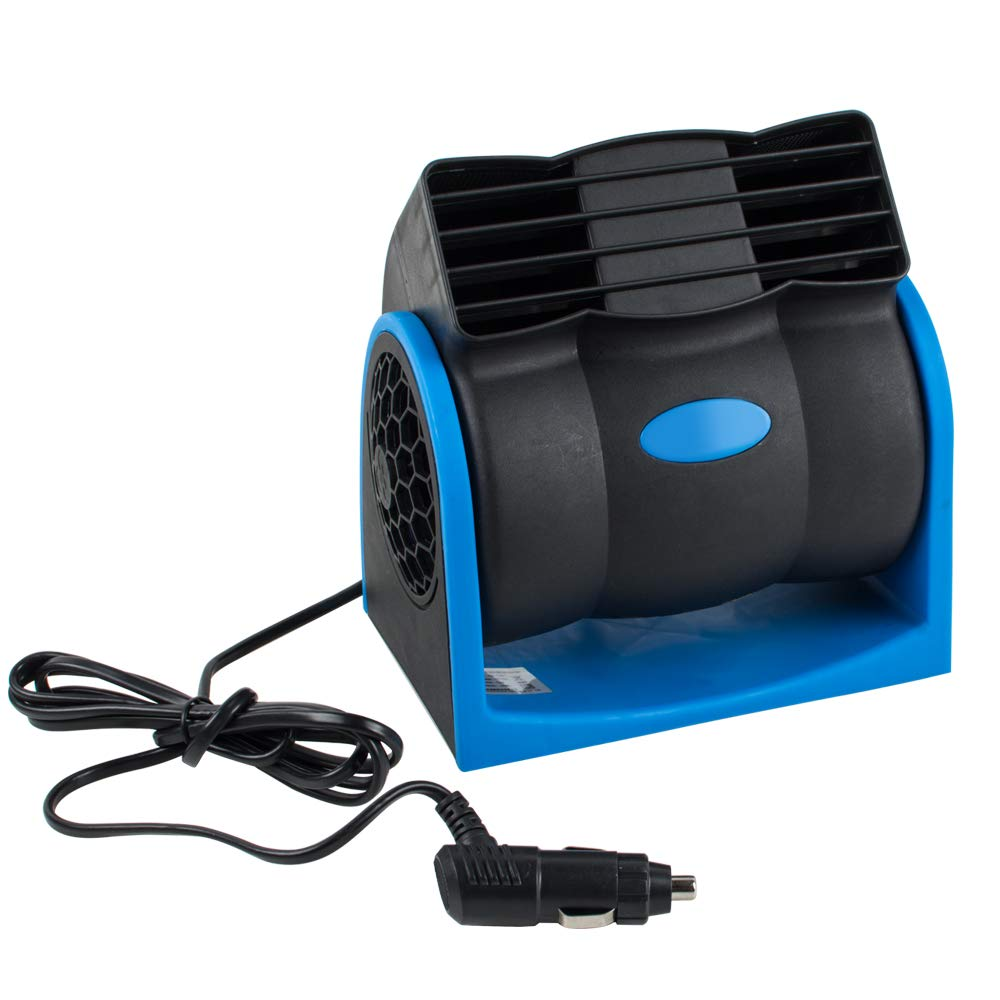 Pevor Car DC12V Air Cooling Fan Auto Truck Vehicle SUV Adjustable Speed Silent Cooler Vent (Blue, 12v)