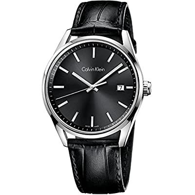 Men's Black Calvin Klein Formality Date Display Watch K4M211C3