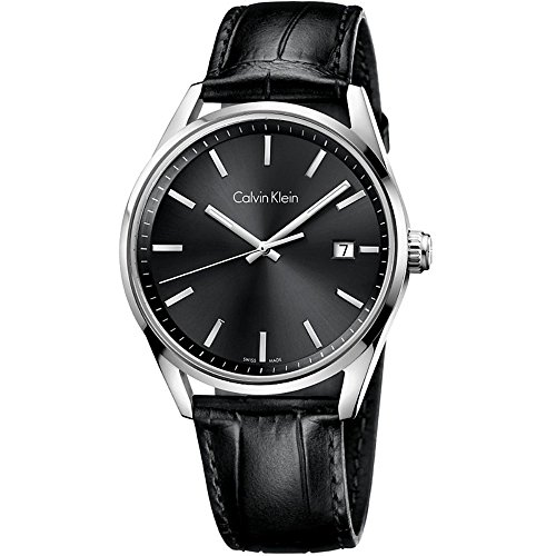 Men's Black Calvin Klein Formality Date Display Watch K4M211C3